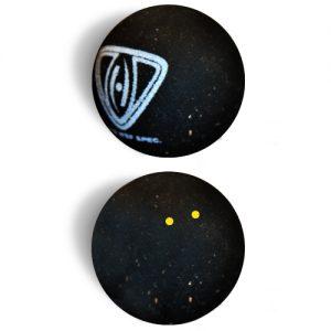 Squashball Doppelpunkt gelb